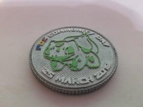 Pokemon Go Community Day #3 coin - Bulbasaur