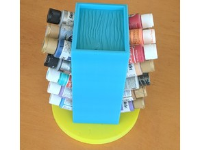 Spinning Acrylic Paint Rack