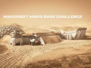 Mars Settlement printed on site