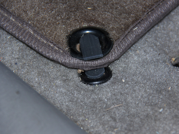 Floor Mat Clips Drivers Side Of Toyota Sienna By Whyandhow