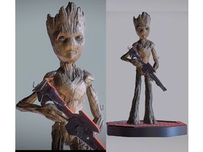 TEENAGE GROOT INSPIRITED MODEL (LOW-P VERSION)