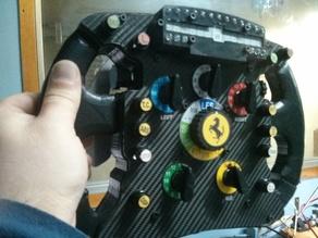 Ferrari F1 Steering wheel (Logitech G25 base)
