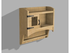 Small shelf with cupboard