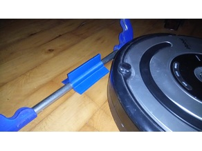 Customizable clothes horse stopper for robot vacuum (iRobot / Roomba)