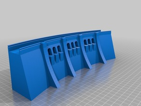 Simple dam wall - HO scale (1:87)