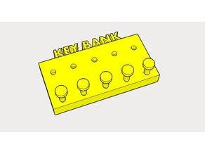 KEY HANGER WITH LETTERS - KEYBANK