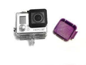 Gopro Hero 3+ Black lens cap with flexible clips