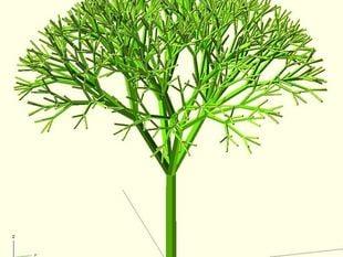 Recursive Tree (with some degree of randomness)