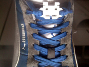 Space Invader Shoes Laces Lock