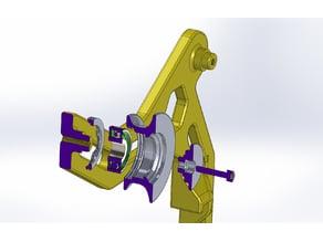 Front spool holder for Prusa i3 MK2