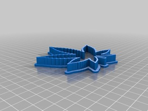 Cannabis Cookie Cutter Fixed for FDM Printing