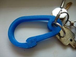 Carabiner with key loop