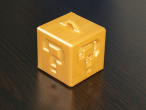 Mario Question mark cube Christmas tree ornament