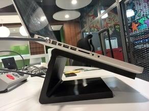 Angled Macbook Pro stand