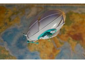 Battle zeppelin lamp