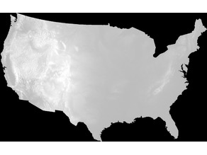 United States Height Map