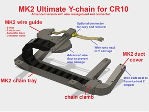 CR-10 Ultimate Y-chain MK2: Y-axis drag chain for bottom mounting