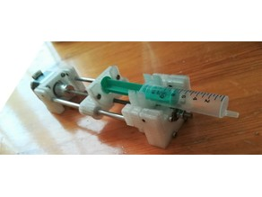 Open Source Syringe Pump with screw holes
