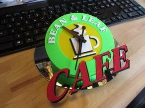 Bean & Leaf - Logo Clock