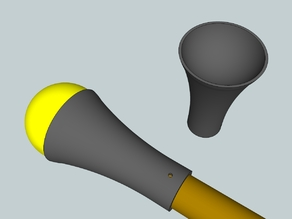 Tennis ball javelin head for medieval combat