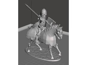 28mm Skeleton Warrior Heavy Cavalry with Sword & Shield