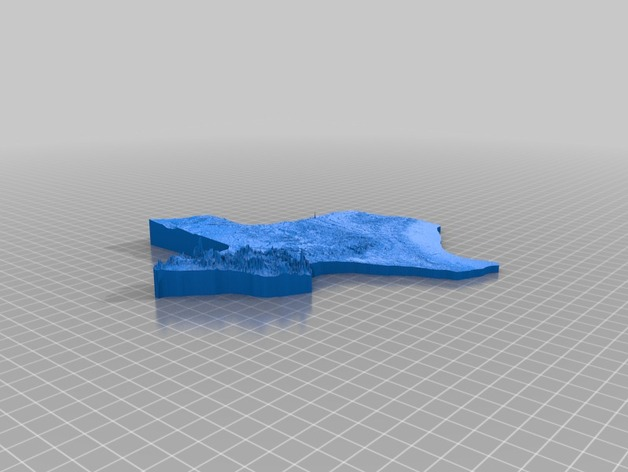 Texas elevation map by DanielChai   Thingiverse