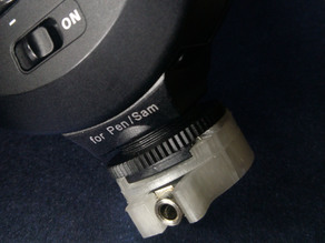 Flash Holder with universal camera thread and hot shoe.