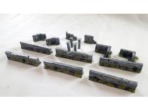 Set of walls in stone - 28mm