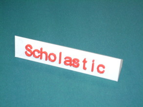 Desktop Nameplate for single or dual extrusion