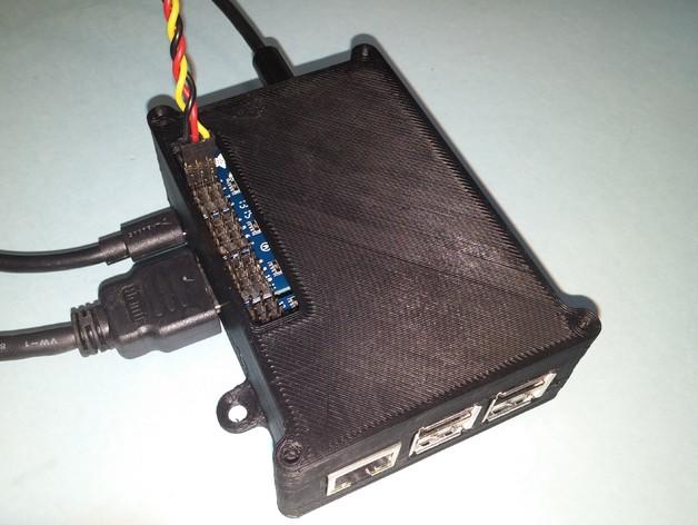Raspberry Pi Servo Hat Case by modbase - Thingiverse