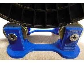 Spool Holder Rail that uses 2 Patio Door Bearings.
