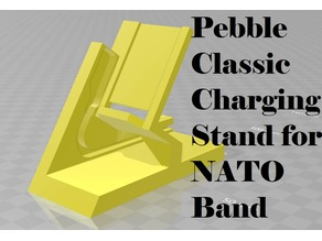 Stronger Pebble Classic Charging Stand for NATO Band