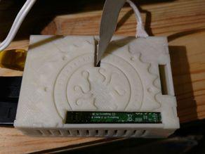 Raspberry Pi 2 lulzbot mini mounted octopus case