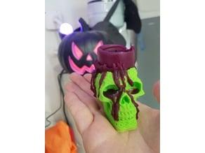 Celtic Skull Candle Holder