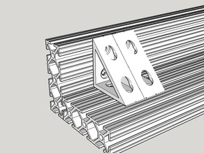 Right angle bracket for 1x3 extrusion