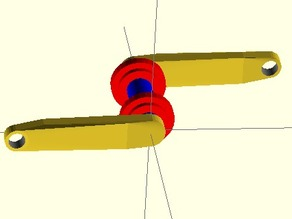 Simple crank design with oversize bearings