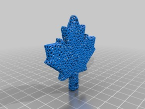Voronoi Maple Leaf Keychain
