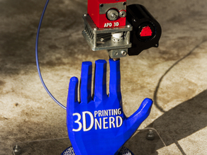3D Printing Nerd High Five Logo