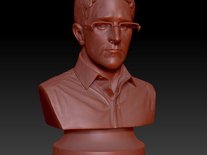 """4"""" Bust of Edward Snowden (Originally placed in Fort Green Park, Brooklyn)"""