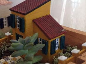 Miniature House Mediterranean 1
