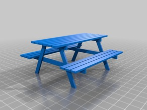 Doll house stuff - Picnic table
