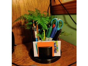 Desk Flower Pot Organizer (Pencil, Pen, and Note Holder)