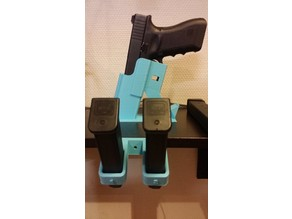Glock 17 Magazine Wall/table holder (should fit all 9mm)
