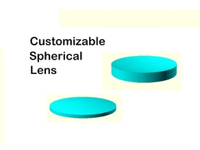 Customizable spherical lens
