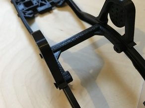 SCX10 U brace for front shock tower / mount - complete frame for less than 10€  -