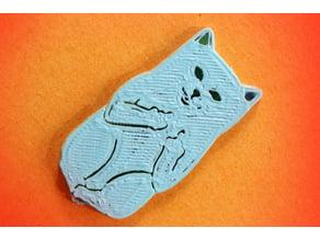 Separador de libros del gato grosero - Dirty Cat Bookmark