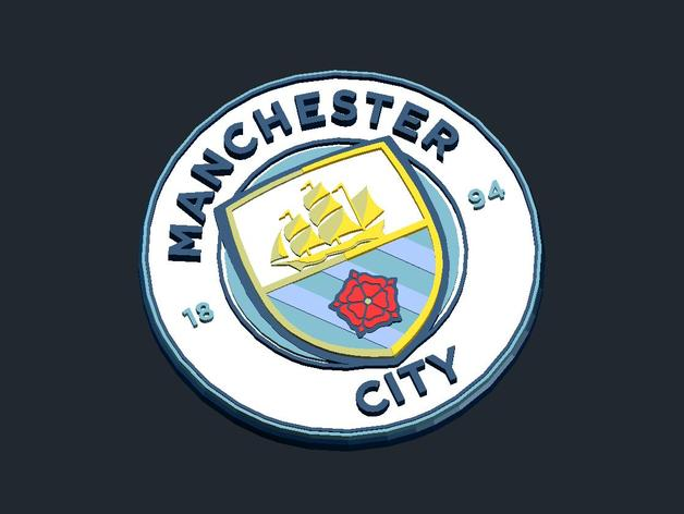 Manchester City Fc Logo By Csd Salzburg Thingiverse