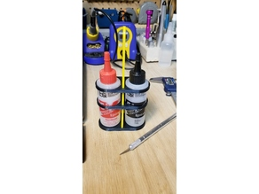 Epoxy Bottles Holder (Assemblable, no glue required)