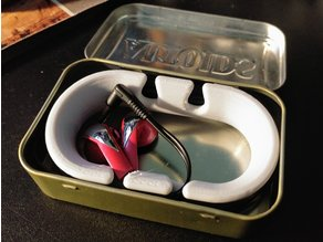 Earbud sp0ol Remixed to fit in Altoids Tin