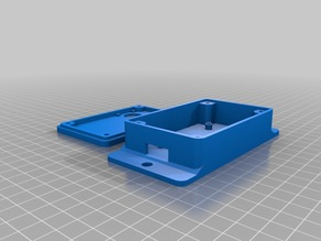 Nodemcu v3 wall mount case with HC-SR04